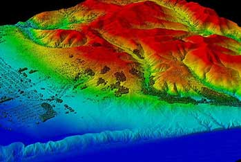 remote piloted aerial geophysical survey using LiDAR 3d modelling